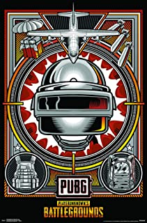 Trends International PLAYERUNKNOWN's Battlegrounds (PUBG) - Drop Wall Poster, Multi