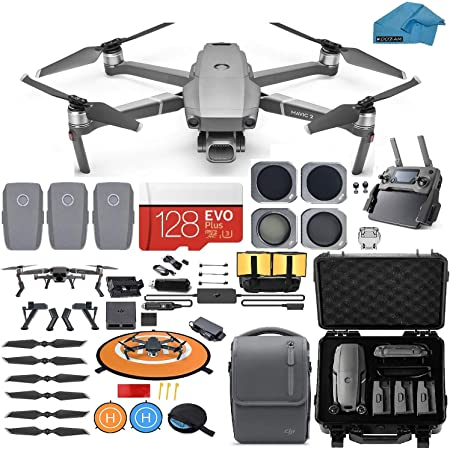 DJI Mavic 2 Pro Drone Quadcopter with Fly More Combo, Waterproof Hard Case, Hasselblad Camera, 3 Batteries, ND Filters, 128GB SD Card, Landing Pad, Bundle Kit