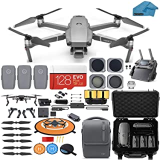 DJI Mavic 2 Pro Drone Quadcopter with Fly More Combo, Waterproof Hard Case, Hasselblad Camera, 3 Batteries, ND Filters, 12...