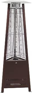 Belleze 42,000 BTU Outdoor Pyramid Propane Medium Glass Tube Dancing Flames Patio Heater - Hammered Bronze