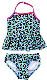Kensie Big Girls Pretty Daisy Ruffle Leg 1-Piece Swimsuit