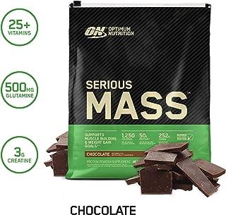OPTIMUM NUTRITION Serious Mass Weight Gainer Protein Powder, Chocolate, 12 Pound..