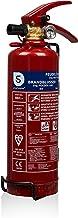 Smartwares 10.018.56 (BB1) Brandblusser – Poeder – 1 kg – Brandklasse ABC – Inclusief ophangbeugel, groen