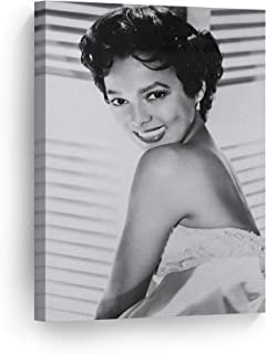 Dorothy Dandridge with Beautiful Smile Black and White Wall Art Canvas Print Beautiful African American Icon Artwork Home Decor Wall Decor Stretched Ready to Hang-%100 Handmade in The USA - 12x8