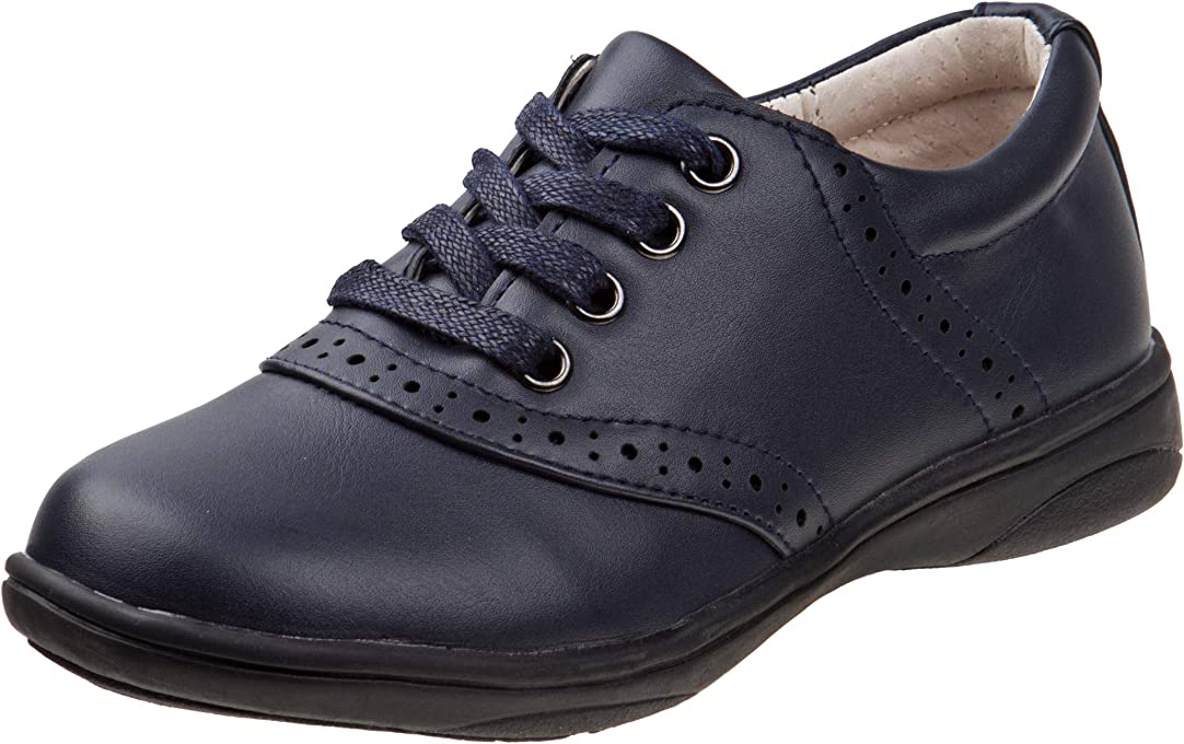 Laura Ashley Girls' Lace Up School Uniform Saddle Shoes (Little Kid/Big Kid)
