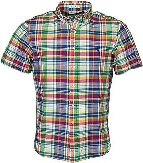 Men's Madras Plaid Short-Sleeve Woven Shirt