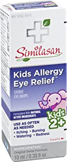 Similasan Kids Allergy Eye Relief Drops 0.33 Ounce, for Temporary Relief from Red Eyes, Itchy Eyes, Burning Eyes, and Watery Eyes Due to Allergies, Formulated with Natural Active Ingredients