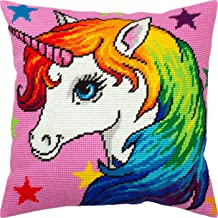 Printed Tapestry Canvas Bull Calf European Quality Needlepoint Kit Throw Pillow 16/×16 Inches