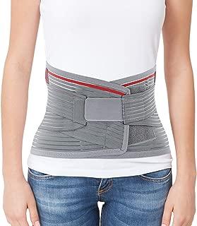 ORTONYX Lumbar Support Belt Lumbosacral Back Brace – Ergonomic Design and Breathable Material - M/L (Waist 31.5