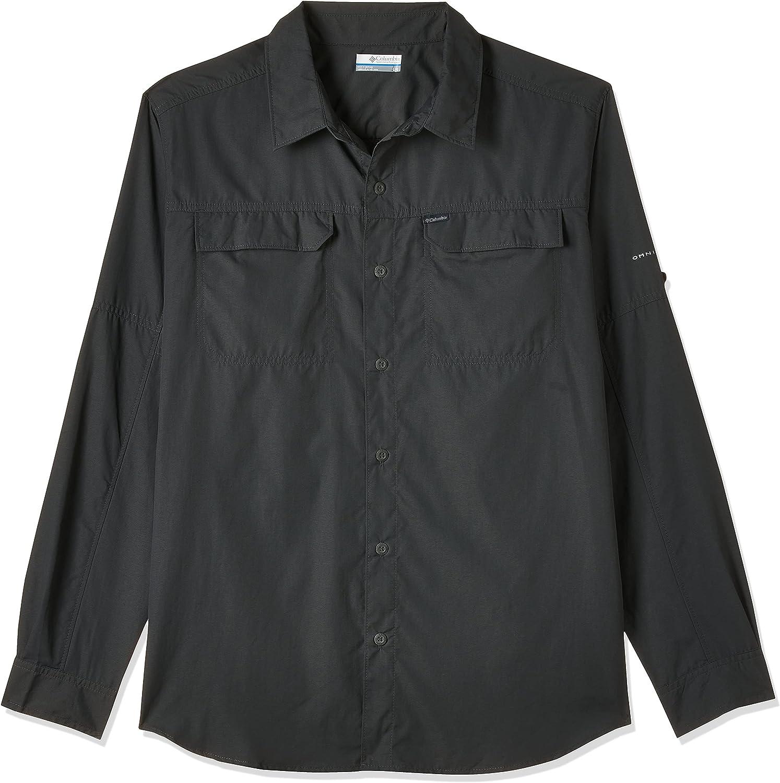 Seattle Mall Columbia Men's Silver safety Ridge Shirt Sleeve Long 2.0