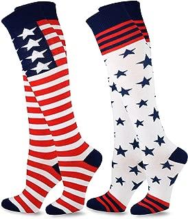 TeeHee Women Novelty Fashion American Knee High Socks 2 Pair Pack