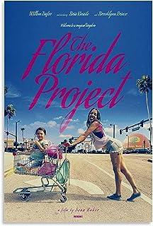 映画のポスターフロリダプロジェクトキャンバス絵画ポスターhdプリント壁アートプリントリビングルームの家の装飾-50x75CMフレームレス