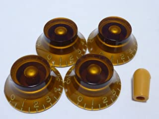 (MADE IN JAPAN)High Quality Bell Knob,Embossed,Amber,metric,Set
