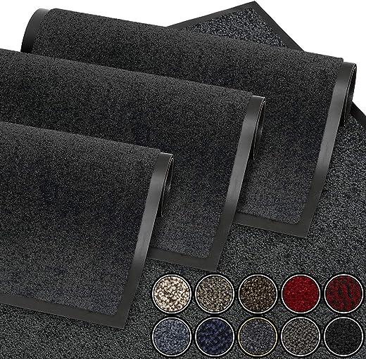 GadHome Fußmatte Anthrazit Grau 40x60 cm |Eingangstürmatte wasserdicht waschbar strapazierfähiger Schmutzfänger | Rutschfester...