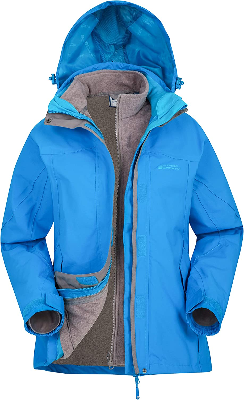 Mountain Warehouse Storm 3 in 1 Womens Waterproof Jacket Spring Coat