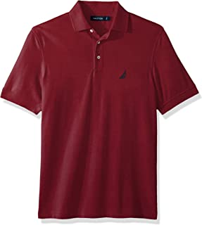 Nautica mens Short Sleeve Solid Stretch Cotton Pique Polo Shirt Polo Shirt