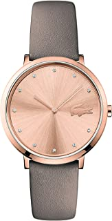 Lacoste Women's Gold Dial Leather Band Watch - 2001039