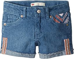 Levi's® Kids - Embroidered Shorty Shorts (Little Kids)