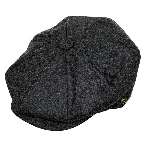 700dad36a7d Epoch Men s Classic 8 Panel Wool Blend newsboy Snap Brim Collection Hat