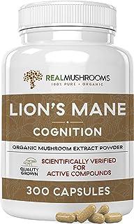 Lions Mane Mushroom Cognition Capsules for Mental Clarity (300ct) | Lions Mane Powder Extract Capsules for Focus & Immune ...