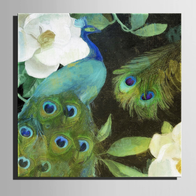 T&Q T&Qing Leinwand-Kunst Gr¨¹ne Pfau-Dekoration-Malerei, rahmenlose Malerei, 50  50 50 50  1 B07KN3CNMW  | Export  7ad5f2