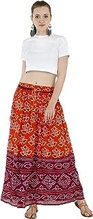 Women's Cotton Elegant Floral Maxi Skirt (Free Size)