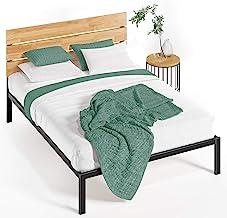 Zinus Paul Queen Bed Frame - Industrial Wood Headboard & Metal Platform Bed Furniture