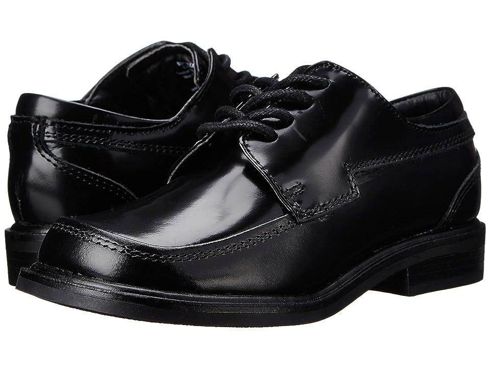 Kenneth Cole Reaction Kids T-Flex Sr (Little Kid/Big Kid) (Black Leather) Boys Shoes