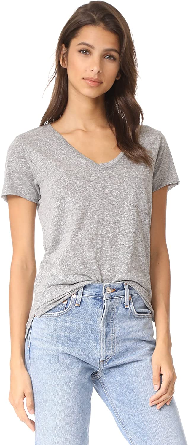 AG Adriano Goldschmied Women's Heather Speckled Henson Tee Purchase Indefinitely