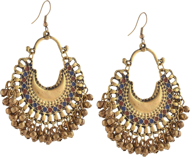 Zephyrr Jewellery German Luxury Cheap mail order specialty store Silver Beaded Chandbali Earrings Hook f
