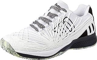 WILSON Men's KAOS 2.0 All Court Tennis Shoe Men's Tennis Shoe, Wh/bk/Safety Yellow