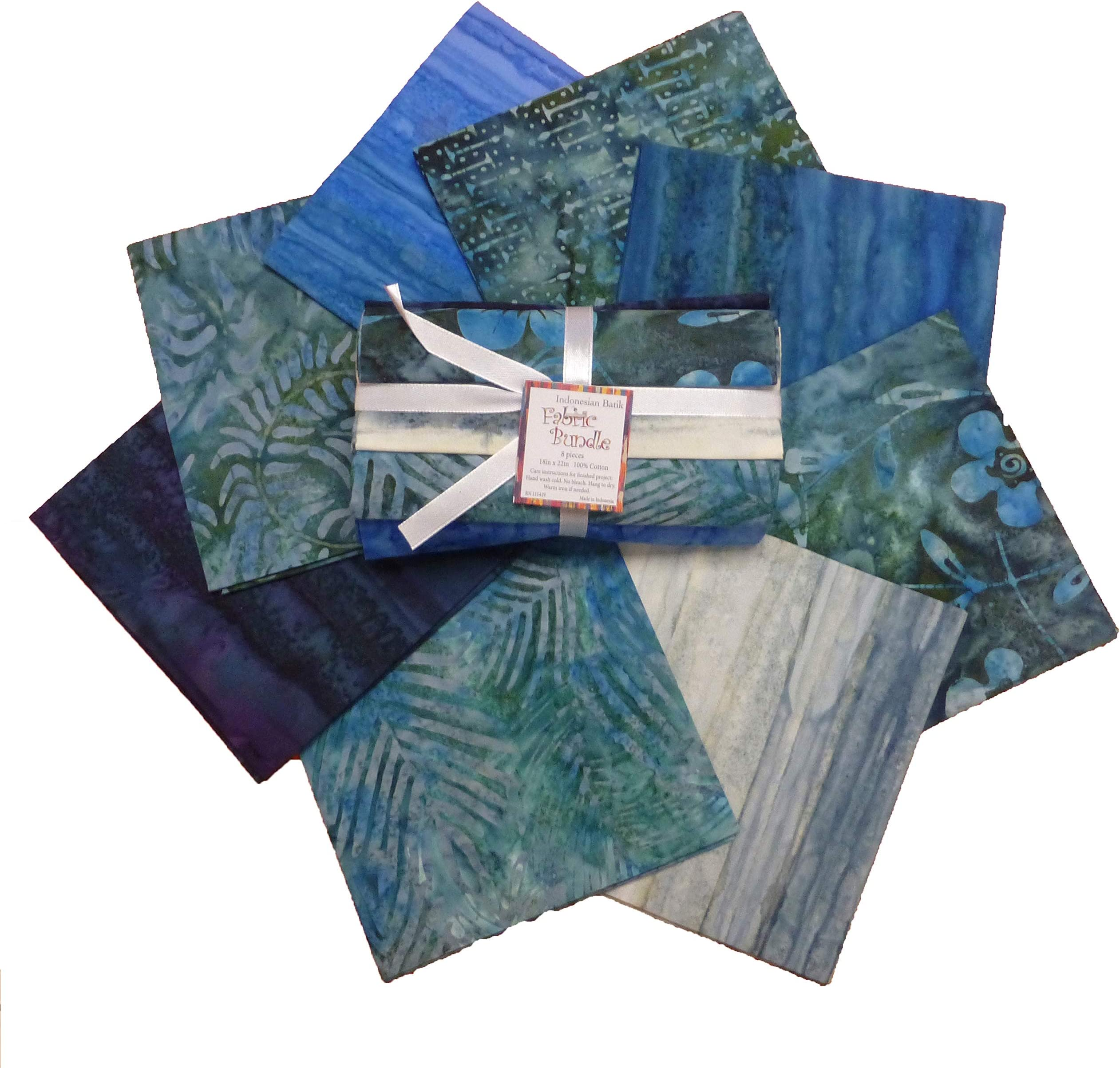 9 Fat Quarter Batik Sampler Emerald City Special Edition with Free Shipping