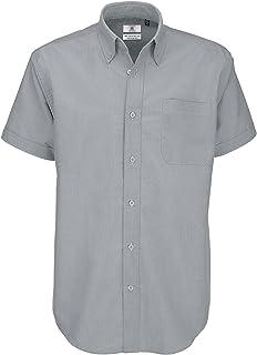 B&C Men's Oxford Short Sleeve Shirt Casual