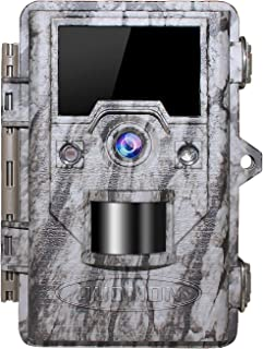 """OUDMON Trail Game Camera 16MP 1080p 30fps FHD Waterproof IP67 Wildlife Scouting Hunting Cam with 940nm 48Pcs No Glow IR LEDs Motion Activated Night Vision 2.4"""" LCD"""