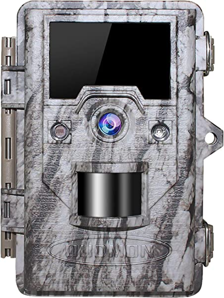 OUDMON Trail Game Camera 16MP 1080p 30fps FHD IP67 Waterproof Wildlife Scouting Hunting Cam With 940nm 48Pcs No Glow IR LEDs Motion Activated Night Vision 2 4 LCD