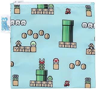 (Game Pixel) - Bumkins Nintendo Reusable Snack Bag Large, Super Mario 8-Bit Game
