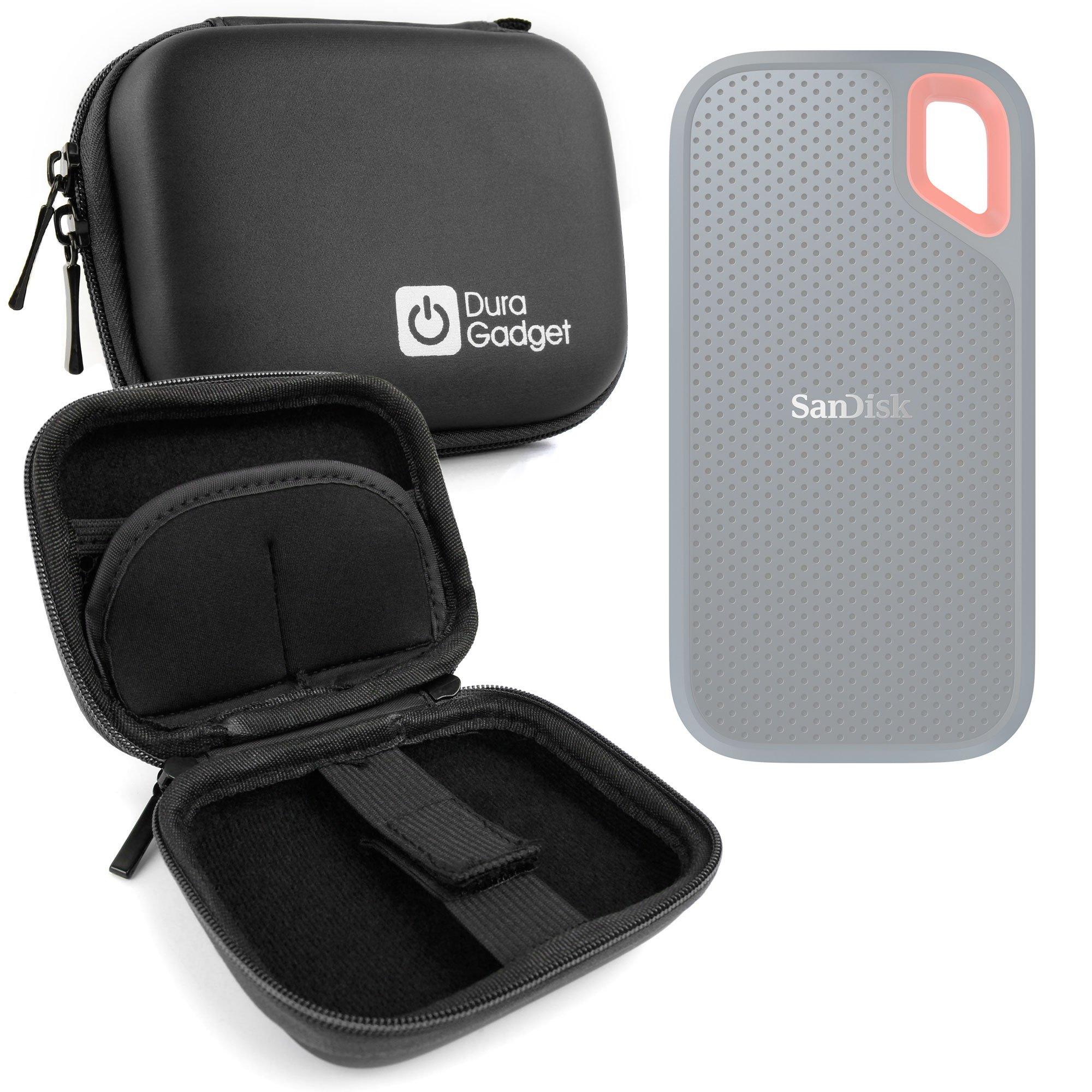 DURAGADGET Estuche Rígido Negro para Disco Duro Externo Sandisk Extreme Portable SSD 1 TB SDSSDE60-1T00-G25 2 TB, 250G, 500 GB: Amazon.es: Electrónica