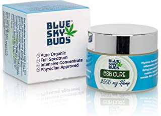 BSB Cure Organic 2500 mg Hemp Infused Oil Pain Balm Delicate Medical Grade Pain Cream 2 oz – By BSB