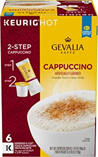 Gevalia Cappuccino K-Cup Coffee Pods with Froth Packets (36 Pods and Froth Packets, 6 Packs of 6)