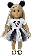 My Genius Dolls Panda Doll Clothes. Fits 18 inch Dolls Like Our Generation, My Life, American Girl Doll. Accessories, Outfits, Headband, Reversible Sequin Patch and Tutu