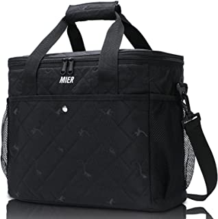 MIER Soft Cooler Insulated Picnic Bag for Grocery, Camping, Car, Beach, Work, Park