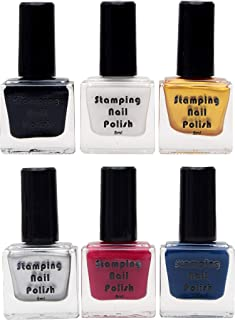 Store2508® Special Nail Polish For Nail Stamping (Pack of 6)