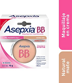 Asepxia Bb Maquillaje Crema Fps 15 Natural Mate 10 G, Pack of 1