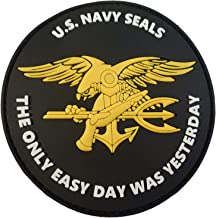 Emblema 3d Rubber Patch NAVY SEALS Velcro distintivo ricamate 4,5 x 7 cm