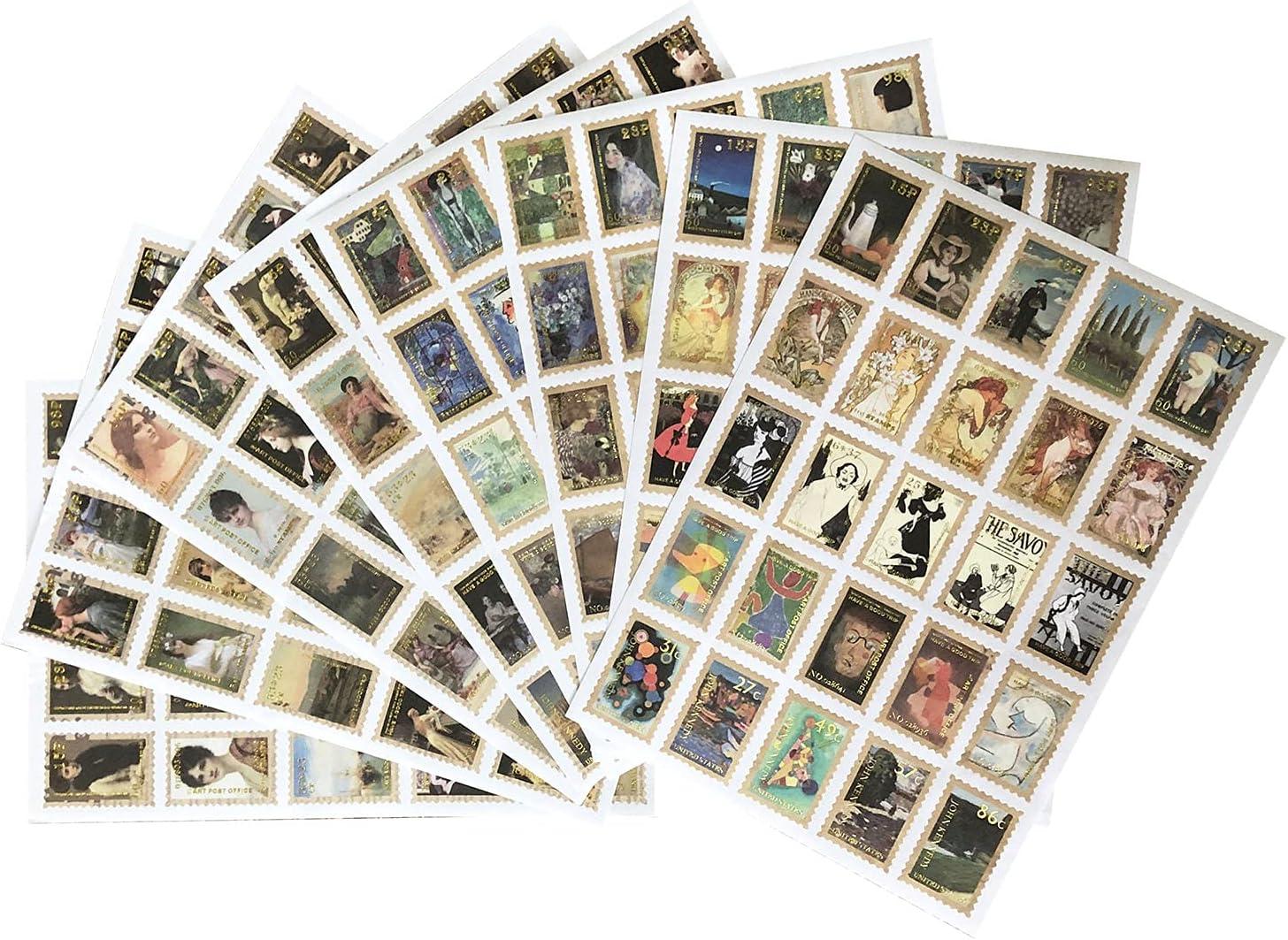 Huralona 200pcs Vintage Postage Max 43% OFF Stamp Decorative Quantity limited Stickers Botani