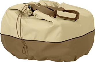 Classic Accessories Veranda Water-Resistant 22 Inch Round Table Top Grill Cover & Carry Bag