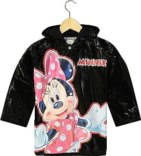 Little Girls' Minnie Mouse Bowtique Waterproof Outwear Hooded Rain Coat - Toddler