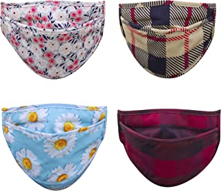 Ambesonne Face Masks - Set of Four Cotton and Set of Ten Microfiber