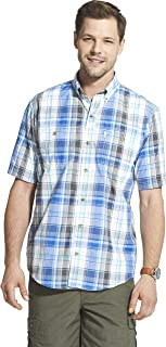 Men's Explorer Short Sleeve Fishing Shirt Plaid Button Pocket
