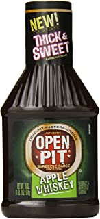 Open Pit Thick & Sweet Barbecue Sauce, Apple Whiskey, 18 Ounce (Pack of 12)